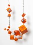 Joshua Kosker   Cubic Tangelo Necklace I